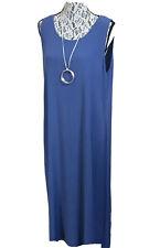 KIM of LONDON Unlined Long Blue Shift Dress ~ Size 18