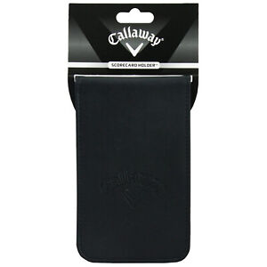 2021 Callaway Golf Scorecard Holder Synthetic Leather Pencil Holder Pocket Size