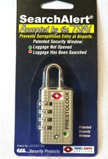 2  SearchAlert 4 dial combination Pewter TSA lock fits your luggage case