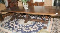 Large Oak Refectory Table - Kitchen Dining Trestle Tables 10 Feet Long