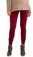 MATERNITY Sz XL BURGUNDY RED OVER THE BELLY 5 POCKET SKINNY PANTS COTTON BLEND