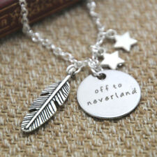 Peter Pan Inspired Necklace Off to neverland crystals Peter Pan gift necklace