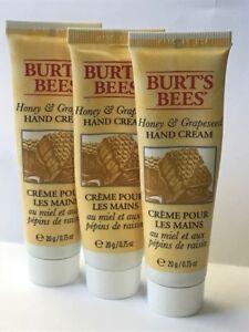 Burt's Bees Travel Size Honey & Grapeseed Hand Cream 0.75 oz. (Pack of 3)