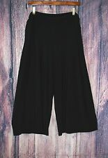 Dressbarn Womens Size XL Palazzo Black Stretch Knit Gaucho Ankle Wide Leg Pants