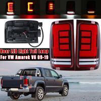 Pair Rear LED Light Tail Lamp Turn Signal Lamp Red For VW Amarok V6