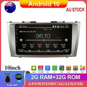 """9"""" GPS Head unit Car Stereo Radio For Toyota Camry Android 10.0 Wifi BT USB DAB"""