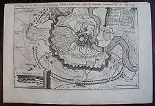 PLAN DE PHILIPSBURG . Afbeelding van het Beleg der Ryksvesting ,1734