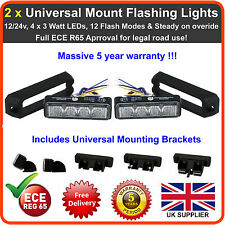 2 x Universal Mount 4LED Grill Lights Like Premier Hazard Whelen Lightbar Beacon