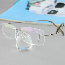 ODYSEY Eyeglass Rx Glass hingless Rimless Titanium Frame Multicolor optional 501