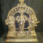 Antique Traditional Indian Bronze SET OF God GANESHA LAXMI AND SARASWATI