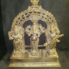 Antique Hindu Traditional Indian Bronze SET OF God GANESH LAXMI AND SARASWATI