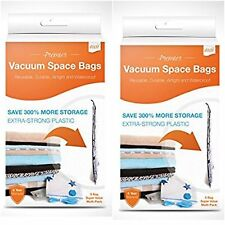 Lot of 2 - Axxi Strong Vacuum Space Saver Storage Bags, Set of 5