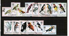 Swaziland 1976 Birds set used SG 236/250a Cat £30.45