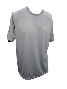 Adidas Climalite MEN'S LARGE Athletic Crew-neck Short Sleeve T-shirt Gray (#N1