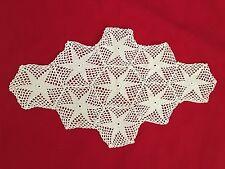 "White 8.5X14"" Star Crochet Doilie"