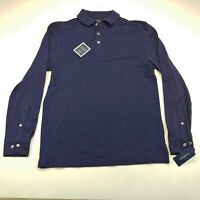 Club Room Performance Men's Navy Blue Long Sleeves Pullover  NWT