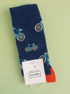 Mens Socks with Bikes - Fun Bicycle Print Socks (Pair)