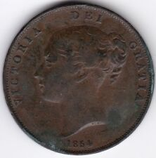 1854 Victoria One Penny | Pennies2Pounds
