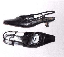 PACO HERRERO escarpins cuir noir P 38 TBE