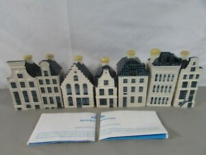 Lot of 7 BOLS KLM Dutch Delft Houses