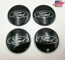 "4x 65mm 2.56"" Auto Car Wheel Center Cap Emblem Decal Sticker For Ford Black"