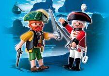 Playmobil Pirates Réf 4127 NEUF, Duo Kit Pirate et Soldat Anglais avec Armes