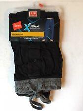 Hanes Men's X-Temp Solid Knit Sleep Pant- Black/Gray, Small