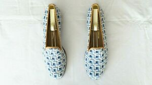 """SO CUTE! $500 Stubbs & Wootton Needlepoint """"STEPS"""" Slippers Loafers Shoes 8.5"""