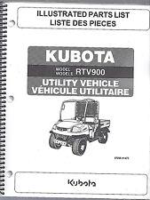 Kubota RTV900 UTILITY VEHICLE(side by side) Illustrated Parts Manual 97898-41473