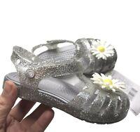 Crocs toddler Girl's Isabella Charm Flat casual stylish Sandal water friendly
