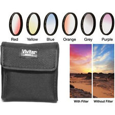 Vivitar 49mm Graduated Color Multicoated Six Piece Filter Set with Fold-Up Filte
