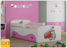 160x80 or 180x90 Toddler Children Kids Bed With Mattress Drawer Boys & Girls 4 180x90