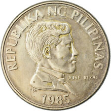 [#776676] Coin, Philippines, Piso, 1985, AU(50-53), Copper-nickel, KM:243.1