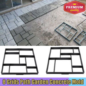Driveway Paving Brick Patio Concrete Slabs Path Garden Walk Maker Slab Mould