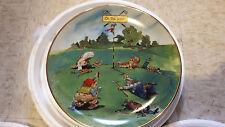 Joys of Golf Decorative Plate Set of 4 Gary Patterson Danbury Mint Set