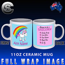 Reasons To Be A UNICORN Personalised Coffee Mug Novelty Cup Gift Funny Rainbow
