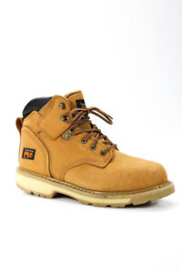 """Timberland Pro Mens Pit Boss 6"""" Steel Toe Leather Boots Brown Size 9.5 LL19LL"""
