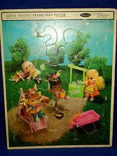 Vtg Barbie Mattel LIddle Kiddle Doll Puzzle Mod 1968 Frame Tray Whitman USA