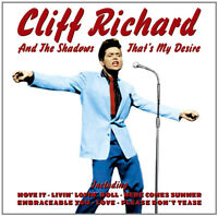 CLIFF RICHARD + THE SHADOWS THATS MY DESIRE CD EARLY HITS ROCK N ROLL 50's 60's