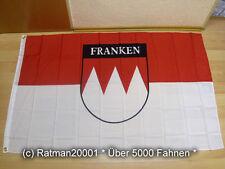 Fahnen Flagge Franken mit Schrift  - 90 x 150 cm