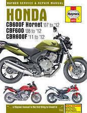 Honda CB 600F Hornet Haynes Manual Repair Manual Workshop Manual 2007-2012