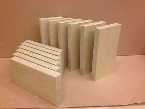 "10 x Vermiculite Stove Bricks, stove fire brick  4"" x 8""x 1"""