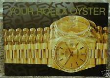 Vintage Rolex Your Oyster Booklet Manual 1996 Eng. English
