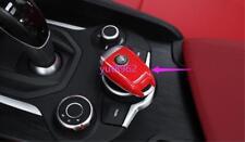 For Alfa Romeo Stelvio 2017-2018 Red ABS Car key holder Trim