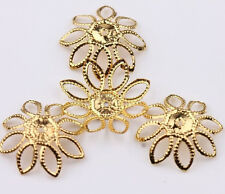 Hotsell 50Pcs New Golden/Silver Filigree Flower Cone End Bead Caps Charms 20mm