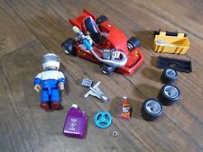 MIGHTY WORLD--RONNIE THE KART CHAMPION CAR & ACCESSORIES (LOOK) 8587