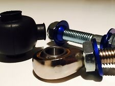 Aluminati replacement rose joint ends with rubber boots, nuts bolts and washers