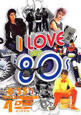 I LOVE THE 80'S VOL. 2 120 MUSIC VIDEOS 4 DVDS Pop Rock Ballads Oldies 80s Video