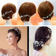 10x Barrette Epingle Pinces Cheveux U Clips Perle Chignon Coiffure Pour Mariage