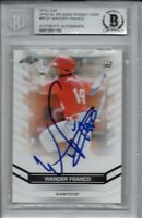 Wander Franco Rays 2018 Leaf Rookie Year Autographed Signed Card Beckett BAS